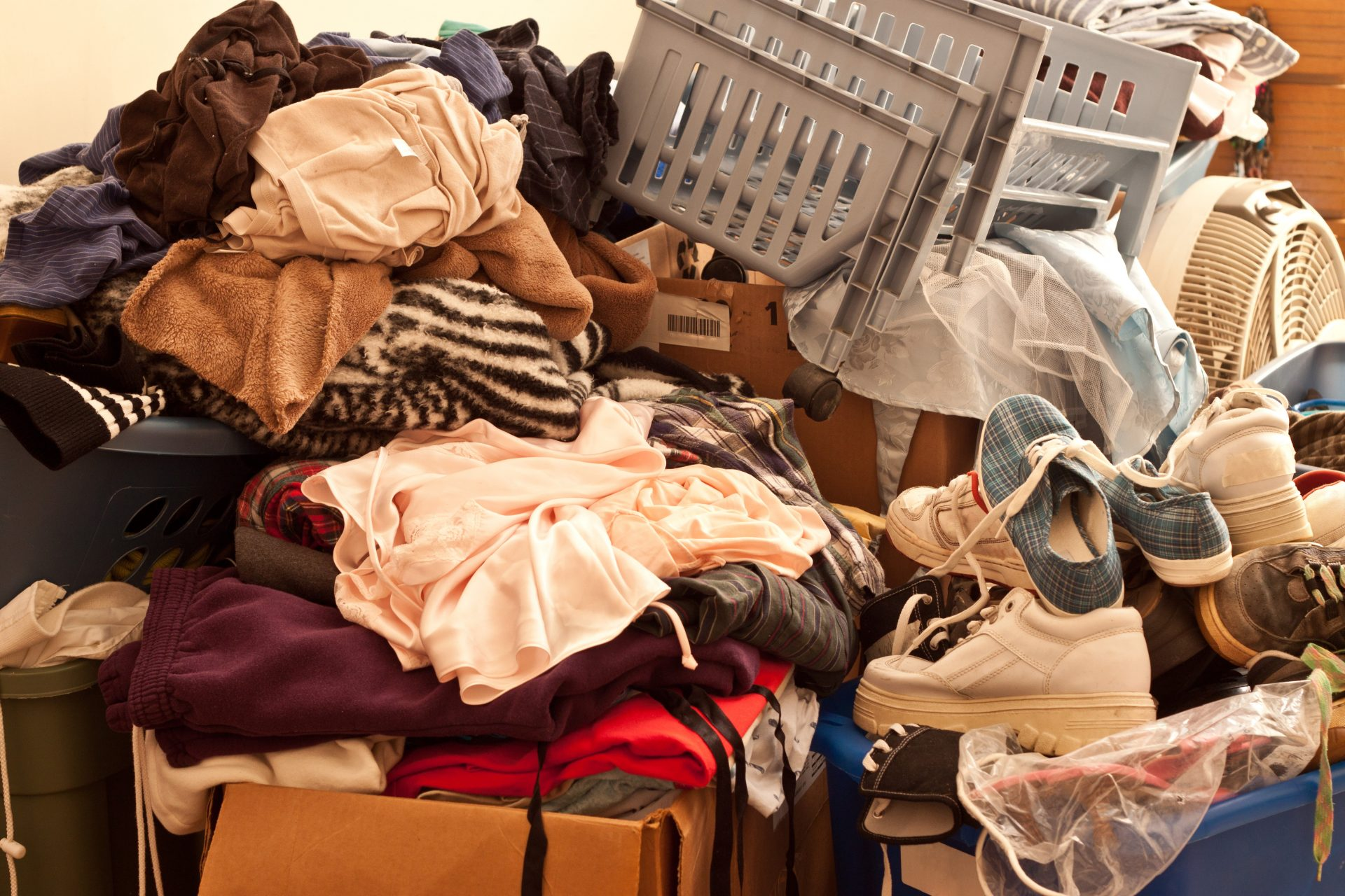 Pile of misc items stored in an unorganized fashion
